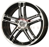 Enkei 434-570-4938BKM FD-05 15X7 38mm Offset 4X100 72.62 Black Machined Wheel