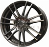 Enkei 444-770-0145GMM T-FORK 17x7 45mm Offset 4X100 4X114.3 72.6 Gunmetal w/ Machined Spokes Wheel