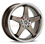 Enkei 446-770-0245ZP EV5 17x7 45mm Offset 5X100 5X114.3 72.6 Matte Bronze w/ Machined Lip Wheel