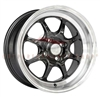 Enkei 464-570-4938BK J-SPEED 15x7 38mm Offset 4x100 72.6 Black w/ Machined Lip Wheel