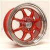 Enkei 464-570-4925RD J-SPEED 15x7 25mm Offset 4x100 72.6 Red w/ Machined Lip Wheel