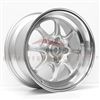 Enkei 464-570-4938SP J-SPEED 15x7 38mm Offset 4x100 72.6 Silver w/ Machined Lip Wheel