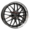 Enkei 469-875-5142BK LUSSO 18x7.5 42mm Offset 5x110 72.6 Black w/ Machined Lip Wheel