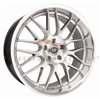 Enkei 469-880-1240HS LUSSO 18x8 40mm Offset 5x120 72.6 Hyper Silver w/ Machined Lip Wheel