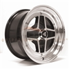 Enkei 471-570-4838BKM APACHE2 APACHE II 15x7 38mm Offset 4x114.3 72.6 Black w/ Diamond-Cut Lip Wheel