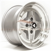 Enkei 471-570-4838SM APACHE2 APACHE II 15x7 38mm Offset 4x114.3 72.6 Silver w/ Diamond-Cut Lip Wheel