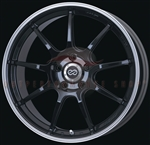 Enkei Racing 472-995-6545BK RSM9 19x9.5 45mm Offset 5x114.3 22.0 lbs. 75 Piano Black Wheel