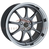 Enkei Tuning 478-780-1235GM TENJIN 17x8 35mm Offset 5x120 72.6 Gunmetal Machined Wheel