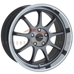 Enkei Tuning 478-780-6535GM TENJIN 17x8 35mm Offset 5x114.3 72.6 Gunmetal Machined Wheel