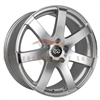 Enkei Performance 481-675-6538SM BR7 16x7.5 38mm Offset 5x114.3 72.6 Silver Machined Wheel