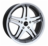Enkei 483-285-1240MF M5 Mirror Finish Truck Wheel 20x8.5 5x120 40mm Offset 72.6 Hub Bore