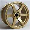 Enkei 485-780-8045GG T6S Gold Tuning Wheel 17x8 5x100 45mm Offset 72.6 Hub Bore