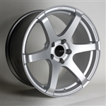 Enkei 485-885-4442SP T6S Matte Silver Tuning Wheel 18x8.5 5x112 42mm Offset 72.6 Hub Bore