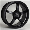 Enkei 487-565-4938BK VR5 Matte Black Performance Wheel 15x6.5 4x100 38mm Offset 72.6 Hub Bore