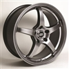Enkei 487-565-4938HB VR5 Hyper Black Performance Wheel 15x6.5 4x100 38mm Offset 72.6 Hub Bore