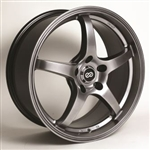 Enkei 487-780-6550HB VR5 Hyper Black Performance Wheel 17x8 5x114.3 50mm Offset 72.6 Hub Bore