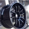 Enkei Racing 489-790-6500BK PF01 EVO 17x9 5x114.3 0mm Offset 75mm Hub Bore 2.72inch Lip 19.04lbs. Matte Black Wheel