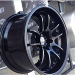 Enkei Racing 489-790-6512BK PF01 EVO 17x9 5x114.3 12mm Offset 75mm Hub Bore 2.72inch Lip 19.04lbs. Matte Black Wheel