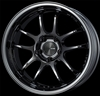 Enkei Racing 489-790-6500SBK PF01 EVO 17x9 5x114.3 0mm Offset 75mm Hub Bore 2.72inch Lip 19.04lbs. SBK (Blackish SBC) Wheel