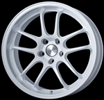 Enkei Racing 489-895-6535WP PF01 EVO 18x9.5 5x114.3 35mm Offset 75mm Hub Bore 1.50inch Lip 19.13lbs. Pearl White Wheel