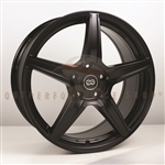 Enkei 493-780-6550BK PSR5 Matte Black Performance Wheel 17x8 5x114.3 50mm Offset 72.6 Hub Bore