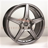 Enkei 493-565-4938HB PSR5 Hyper Black Performance Wheel 15x6.5 4x100 38mm Offset 72.6 Hub Bore