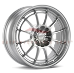 Enkei Racing 3658756542SP NT03+M 18X7.5 42mm Offset 5X114.3 72.6 F1 Silver Wheel