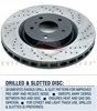 Rotora R.42100.1C Slotted & Drilled Front Left Brake Disc Rotor Infiniti G37 Nissan 370Z Sport Models (Akebono)